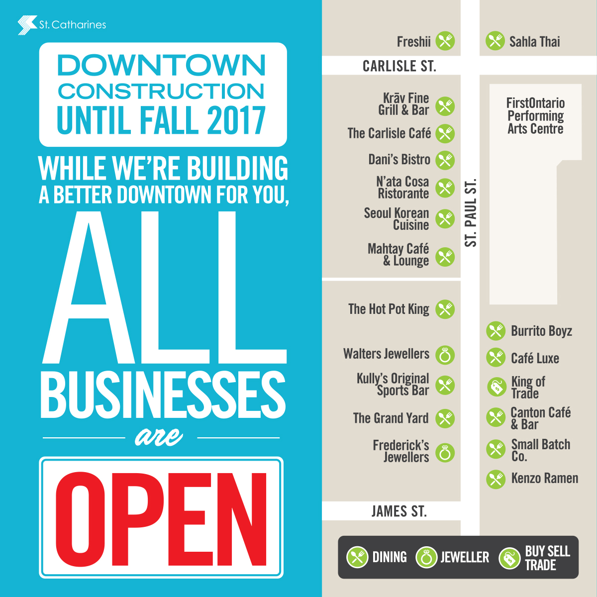 Downtown business map